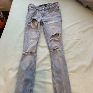 Hollister Distressed Super Skinny Jeans